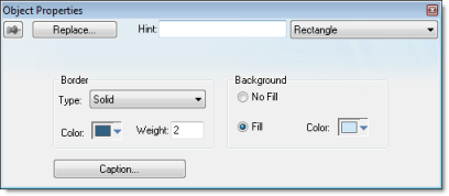 Web Studio Help dialog objectproperties rectangle Rectangle object
