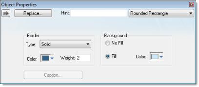 Web Studio Help dialog objectproperties roundedrectangle Rounded Rectangle object