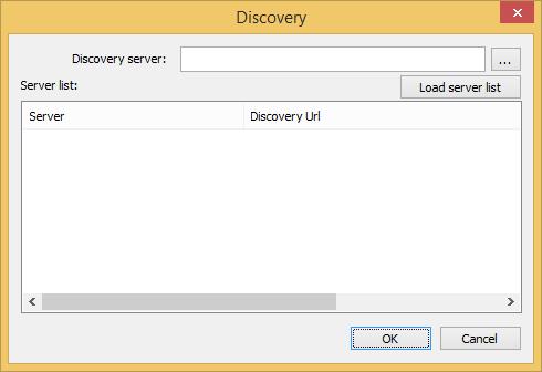 Web Studio Help dialog opcua discovery OPC UA Client