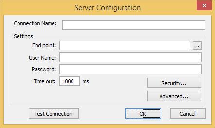 Web Studio Help dialog opcua serverconfiguration OPC UA Client