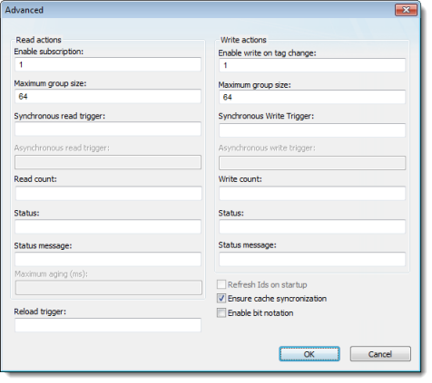 Web Studio Help dialog opcxi advanced OPC .NET Client
