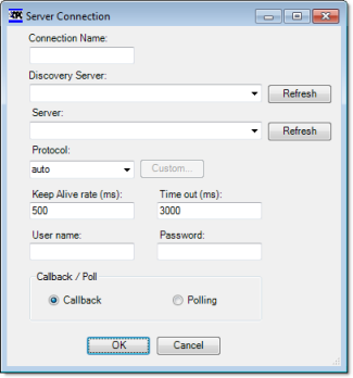 Web Studio Help dialog opcxi serverconnection OPC .NET Client