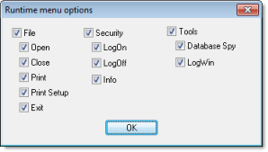 Web Studio Help dialog projectsettings viewer menuoptions Viewer tab