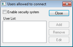 Web Studio Help dialog remoteagent setup users Enable security in Remote Agent and add users