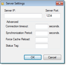 Web Studio Help dialog security serversettings distributed Configuring server settings for security modes