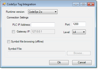 Web Studio Help dialog tagintegration addsource codesys2 CoDeSys