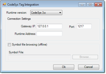 Web Studio Help dialog tagintegration addsource codesys3 CoDeSys