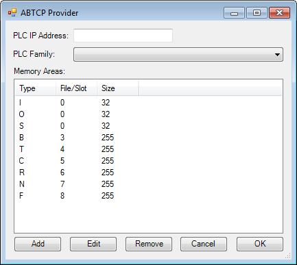 Web Studio Help dialog tagintegration source abtcp Allen Bradley PLC5, SLC500