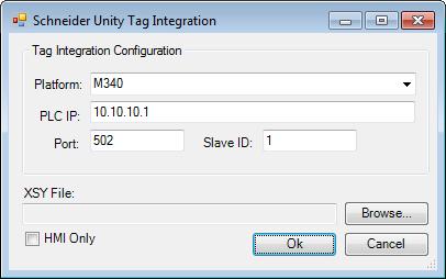 Web Studio Help dialog tagintegration source schne Schneider Unity Modbus