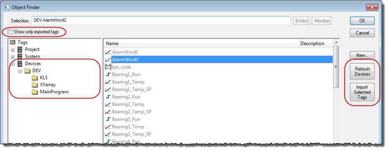 Web Studio Help illus objectfinder browsingtags Use the Object Finder to select integrated tags