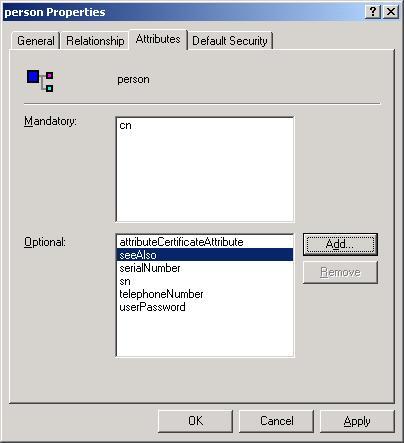 Web Studio Help illus security extendingldap 09 Extending the LDAP schema to allow saving of security rights