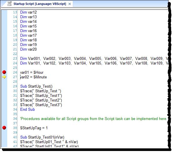 Web Studio Help illus vbscript debugging 4 Step through your VBScript code
