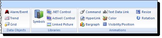 Web Studio Help ribbon graphics 2 Graphics tab