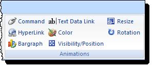 Web Studio Help ribbon graphics animations Animations