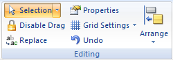 Web Studio Help ribbon graphics editing Editing