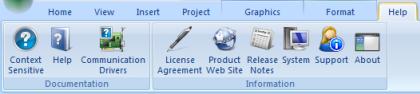 Web Studio Help ribbon help Help tab