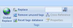 Web Studio Help ribbon home tags Using the Tags Toolbar