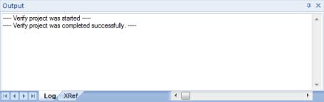 Web Studio Help window output Output (LogWin)