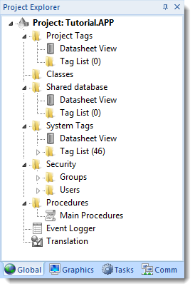 Web Studio Help window projectexplorer global About Tags and the Project Database