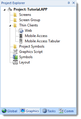 Web Studio Help window projectexplorer graphics Graphics tab