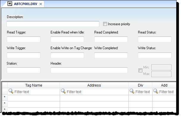 Web Studio Help worksheet comm driver standard Standard Driver Sheets