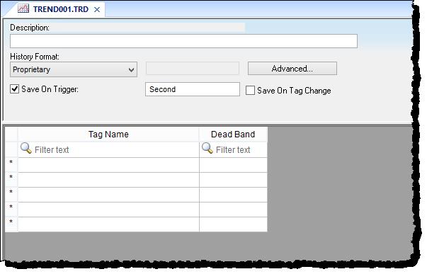 Web Studio Help worksheet tasks trend Trends