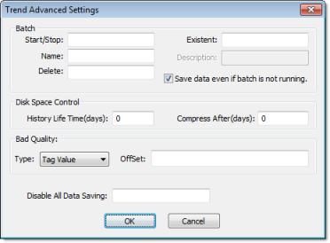 Web Studio Help worksheet tasks trend advanced Creating Batch History