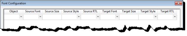 Web Studio Help worksheet translationtable fontconfiguration Configure fonts for a target language
