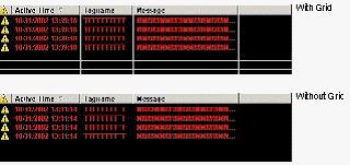 Web Studio Help illus alarms w grid Alarm/Event Control object