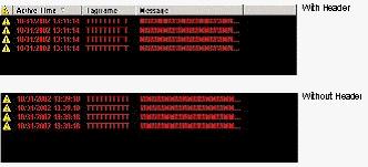 Web Studio Help illus alarms w header Alarm/Event Control object