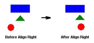 Web Studio Help illus obj aligning right Align