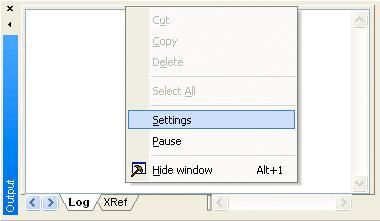 Web Studio Help illus shortcut output settings Database Troubleshooting