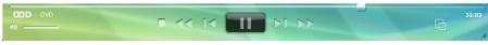 Corel WinDVD player panela Panel přehrávače