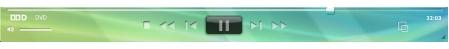 Corel WinDVD player panel Afspillerpanel