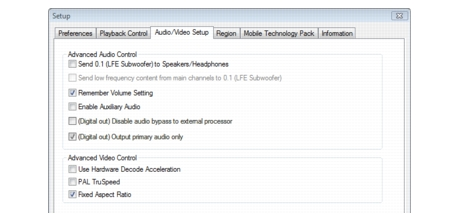 Corel WinDVD bdavsetup Audio Setup