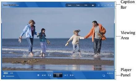 Corel WinDVD main window Interface Basics