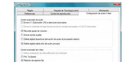 Corel WinDVD bdavsetup Configuración de audio