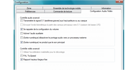Corel WinDVD bdavsetup Configuration audio