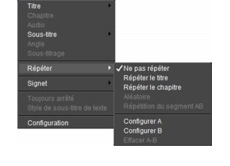 Corel WinDVD rightclick menu Panneau de contrôle