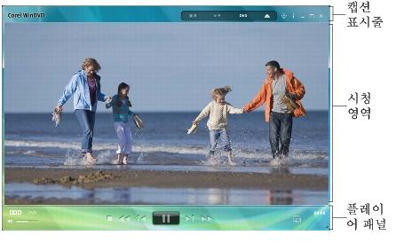 Corel WinDVD main window 인터페이스 기본