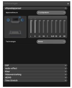 Corel WinDVD enhancements playback%20device Afspeelapparaat instellen