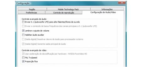 Corel WinDVD bdavsetup Configuração de áudio