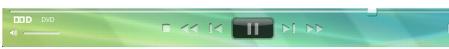 Corel WinDVD player panel Painel do reprodutor