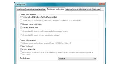 Corel WinDVD bdavsetup Configurare audio