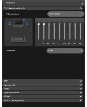 Corel WinDVD enhancements playback%20device Nastavenie Prehrávacie zariadenie