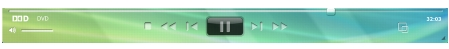 Corel WinDVD player panela Podokno predvajalnika