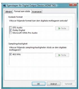 Corel WinDVD bd audio%202 Digital ljudutmatning för BD ROM