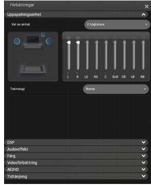 Corel WinDVD enhancements playback%20device Inställning av Uppspelningsenhet