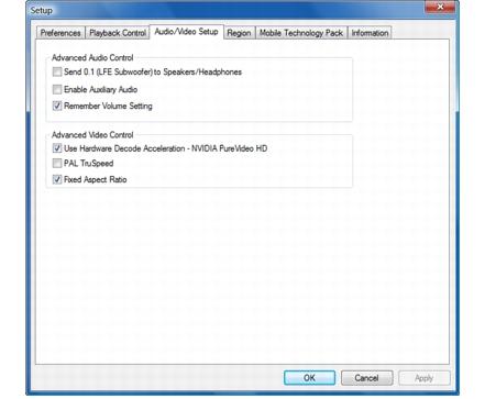 Corel WinDVD setup audio%20video%20setup Configuring Audio/Video Setup