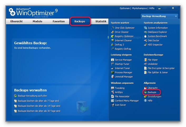 WinOptimizer backupp.zoom80 Backups